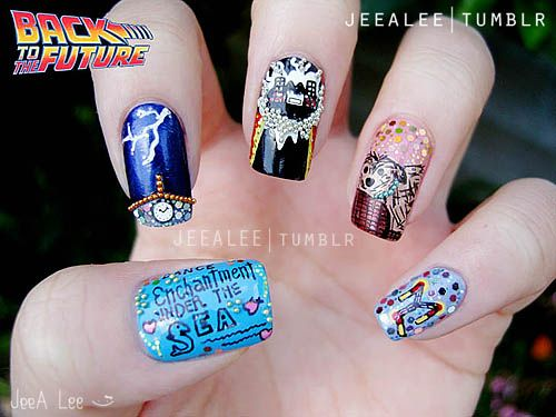 Awesomely Geeky Nail Designs | The Mary Sue - Back To The Future