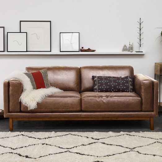 Phenomenal Dekalb Leather Sofa 85 Divani West Elm Leather Sofa Ocoug Best Dining Table And Chair Ideas Images Ocougorg