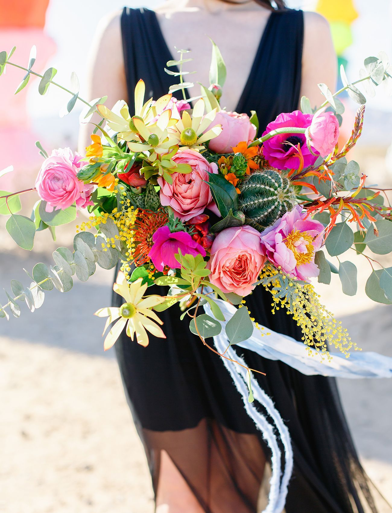 bright pink bouquet Photographer Tiffany Sangster