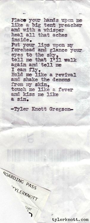 Tyler Knott Gregson Typewriter Series Old Fashion Romance