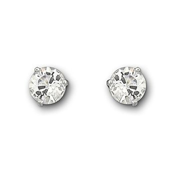 Each Stud Comprises One Crystal Solitaire In An Elegant Setting This Pair Of Rhodium Plated Earrings Dazzle And Shimmer Subtle Ways Making A Statement