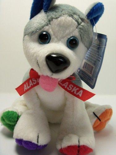 7 Arctic Circle Alaskan Friend Husky Grey Dog Stuff Animal Plush W