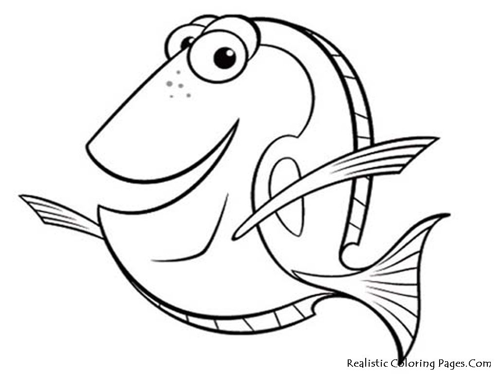 Free Printable Fish Coloring Pages Kid Crafts Pinterest Free