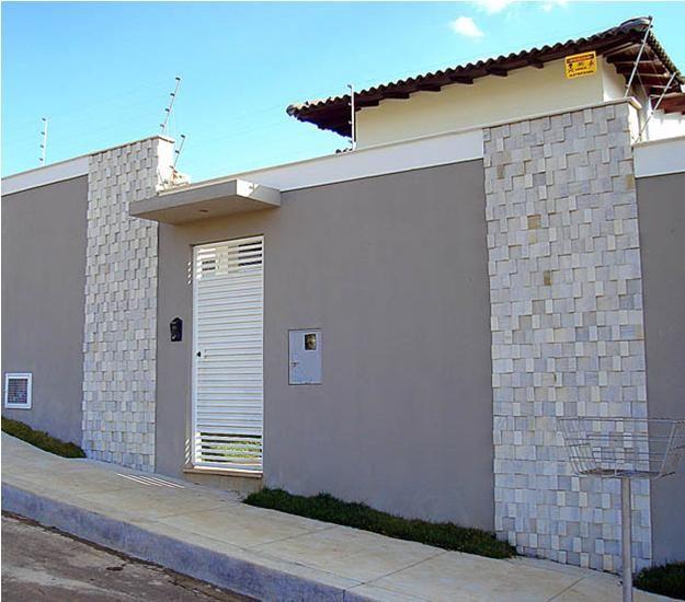 49 modelos de muros e fachadas residenciais pinterest for Modelos de fachadas