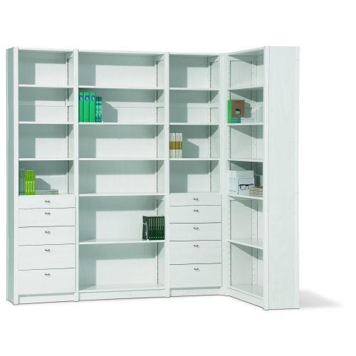 Lundia Original boekenkast in hoek | Boekenkast op maat | Pinterest