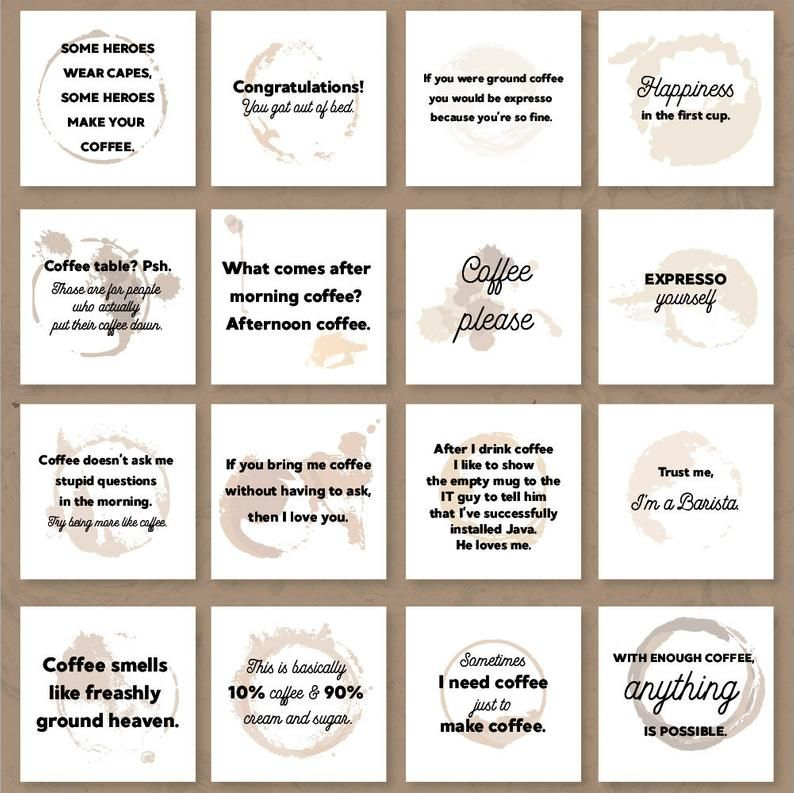 Coffee Quotes For Instagram Coffee Quotes For Social Media Etsy Coffee Quotes Coffee Instagram Coffee Shop Branding