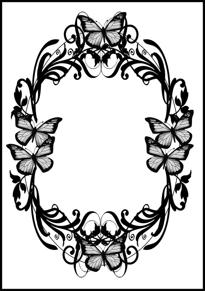 Black Butterfly Borders And Frames Clipart Clip Art Borders Page Borders Design Clip Art