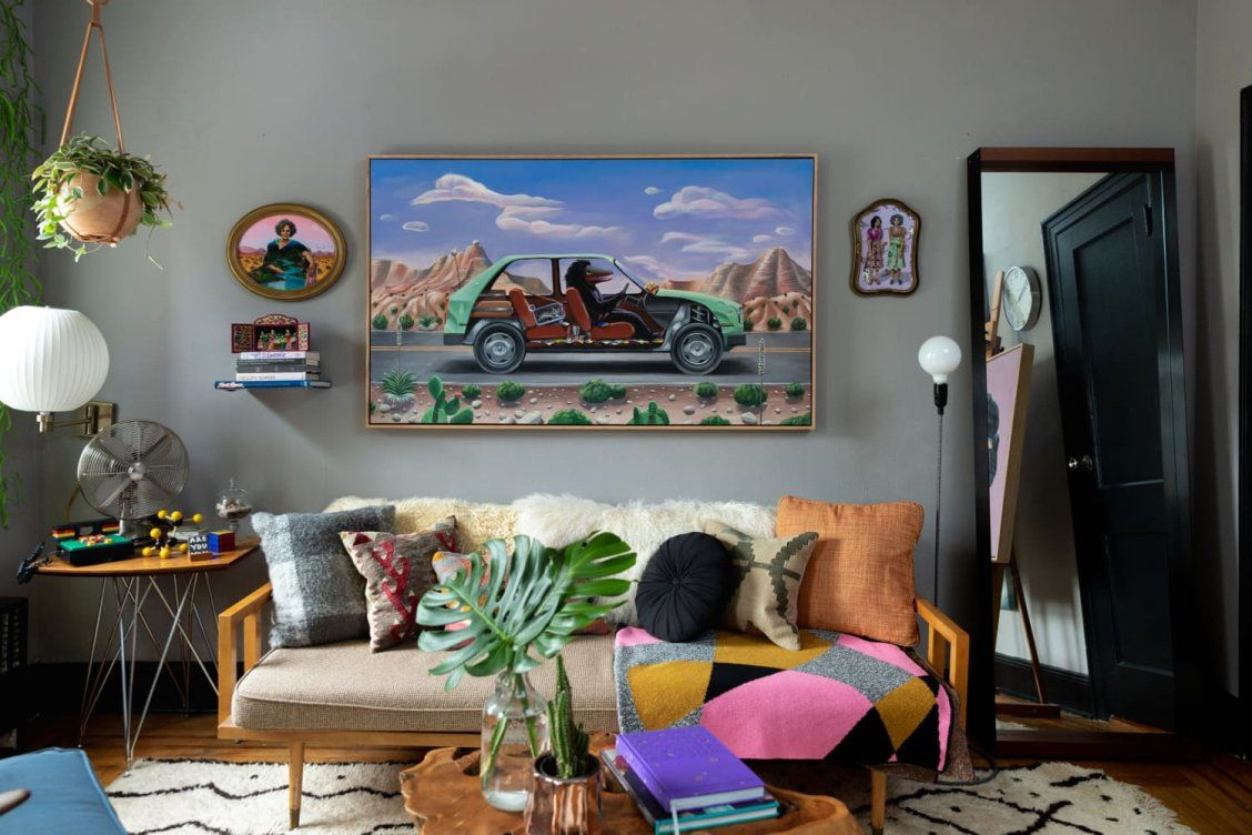 This Artist S Moody Apartment Is Inspired By Mexico City Tropical Modernism And The Power Of Plants Brooklyn House Vintage Sofa Mexico City Style
