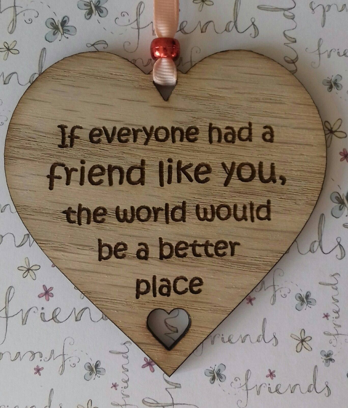 Best friend gift wooden friendship plaque sign gift for