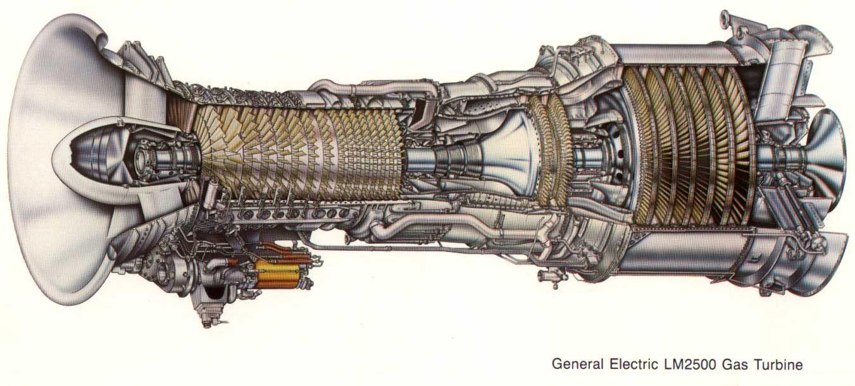 GE LM2500 gas turbine engines ...