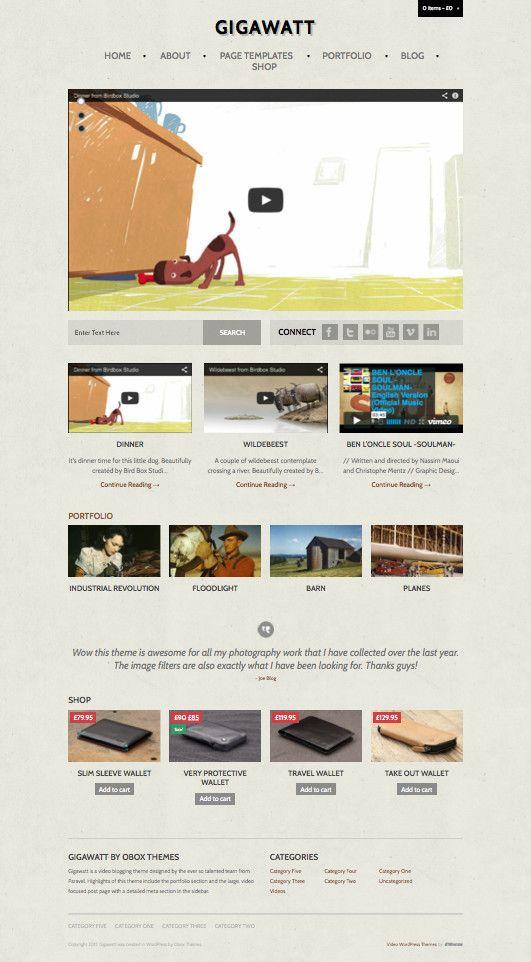 Gigawatt 2.0 – A Vintage Style WordPress Video Blog Theme ...