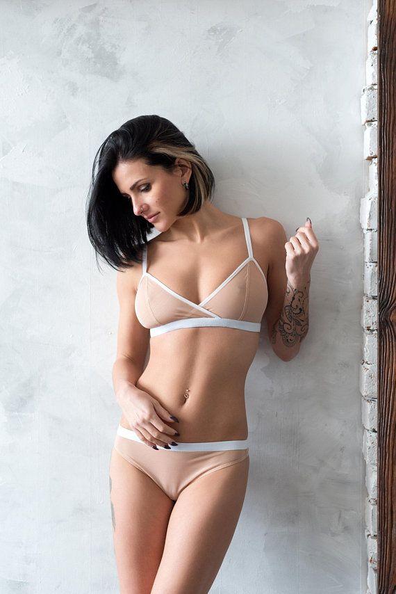 aa06079af7 Sheer lingerie   Beige lingerie   see through lingerie   sports lingerie    mesh lingerie   nude ling