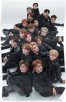 NCT 2018 'Black on Black' Photoshoot All Memebers Poster by AegyoKings
