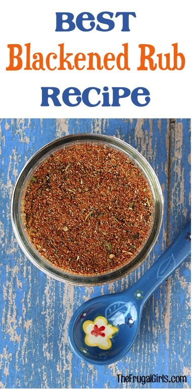 Blackened Chicken Rub Recipe! {also great on Steak and Fish} - The Frugal Girls