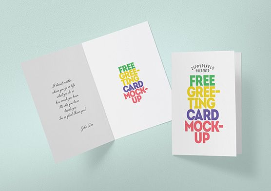 Free Greeting Card Mockup Zippypixels Birthday Card Template Free Free Greeting Cards Card Templates Free