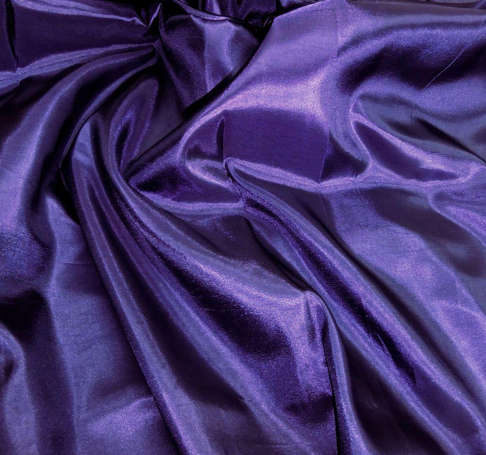 """Dark Blue Taffeta Faux Silk Wedding Brides Drape Dress 60/""""W Tablecloth Fabric"""