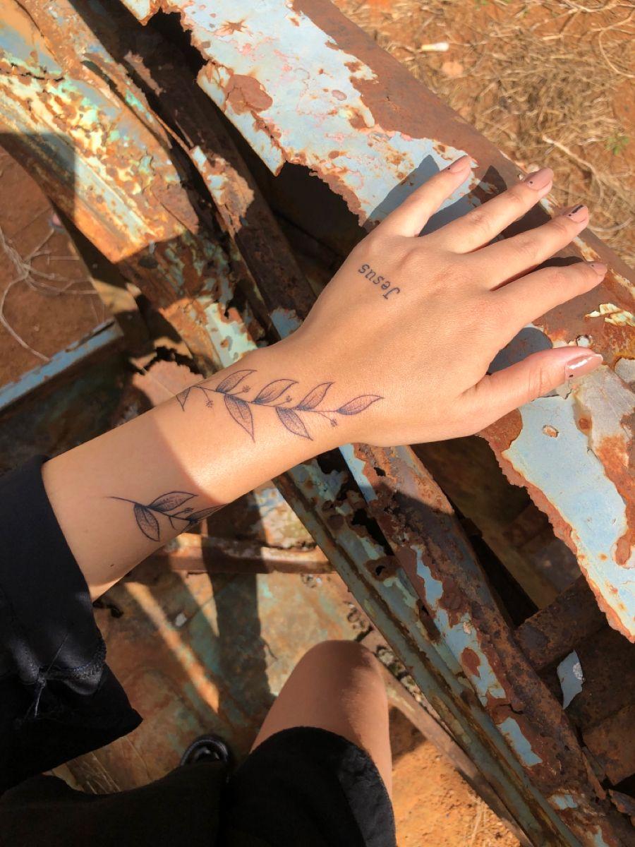 Tatto de ramos Minha Tatuagem na mão