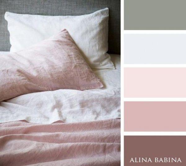 15 Combinaciones ideales de colores para interiores - rosas claros