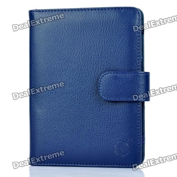 Protective PU Leather Case for Kindle 4 - Blue  Cheap plus free shipping to NZ