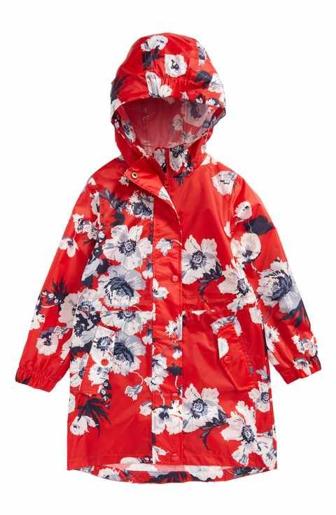 5c1fb43444ea Joules Packaway Flower Print Rain Jacket (Toddler Girls