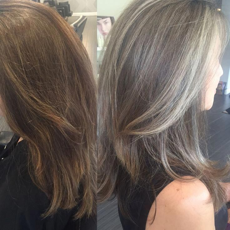 Trendy Hair Highlights : Transitioning from colored hair to silver/grey hair silver highli... - GlamFashion | Leading Fashion inspiration Magazine