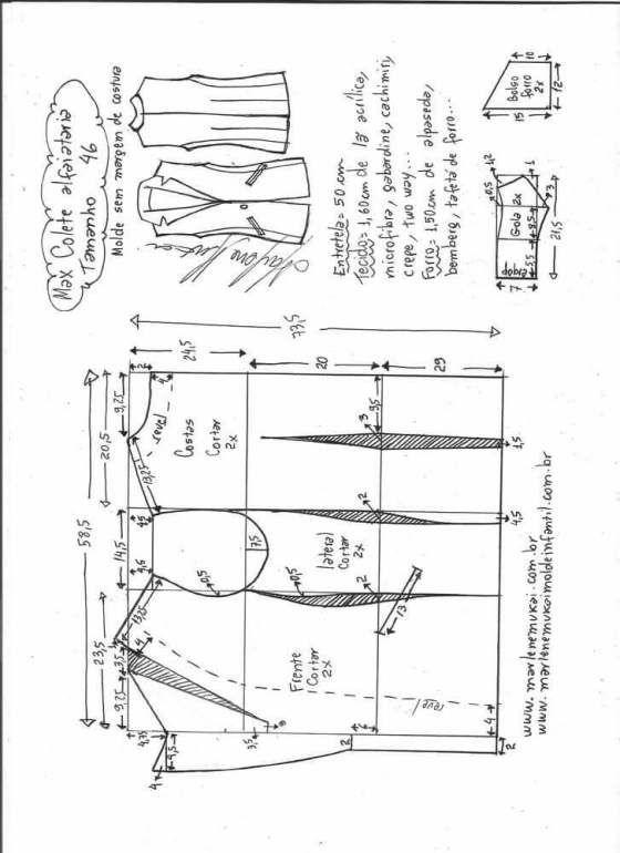Patrón chaleco elegante de vestir | P. COSOS | Pinterest | Costura ...