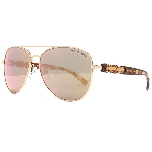 3deb4c42dc Michael Kors Pandora Aviator Sunglasses in Rose Gold Mirror MK1015 1130R1 58