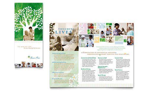 Contoh Pamflet Brosur Perawatan Lansia Brochure Pamphlet Designs