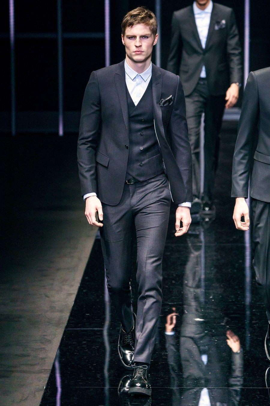 Emporio Armani Fall 2019 Menswear Fashion Show Armani
