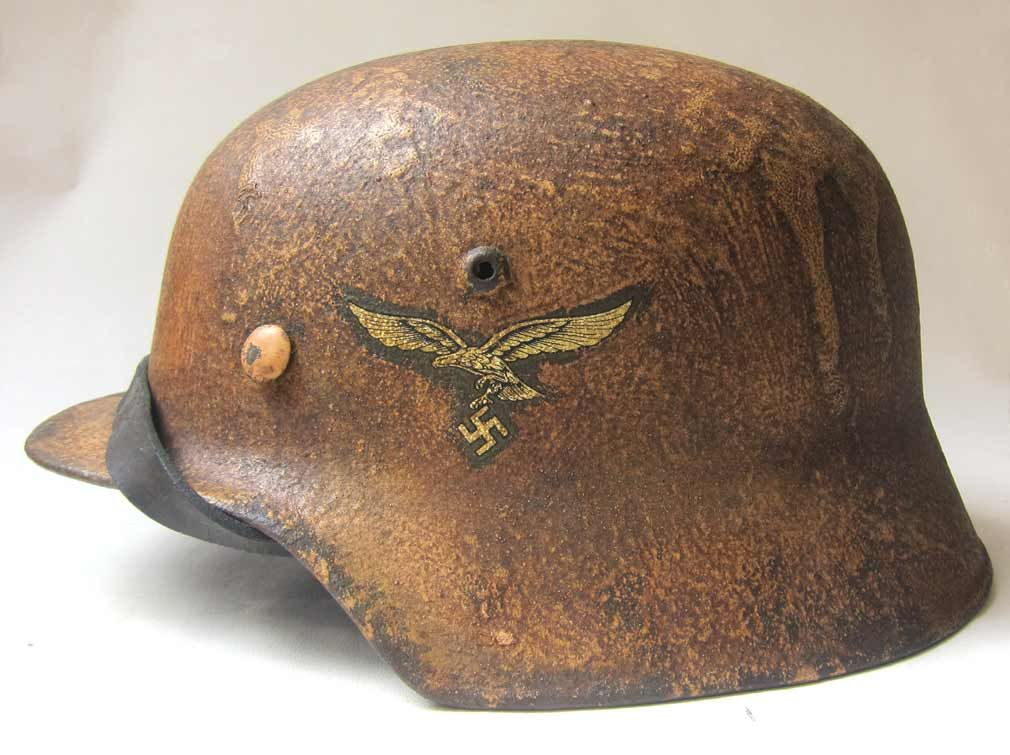 f36f1f856e681 This DAK (Deutsches Afrika Korp) helmet is reproduction