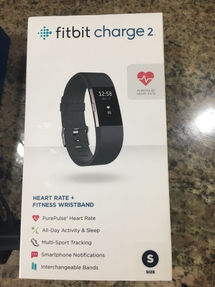 Fitbit Charge 2 Small Black Activity Tracker Heart Rate Ebay Fitbit Activity Tracker Fitbit Charge