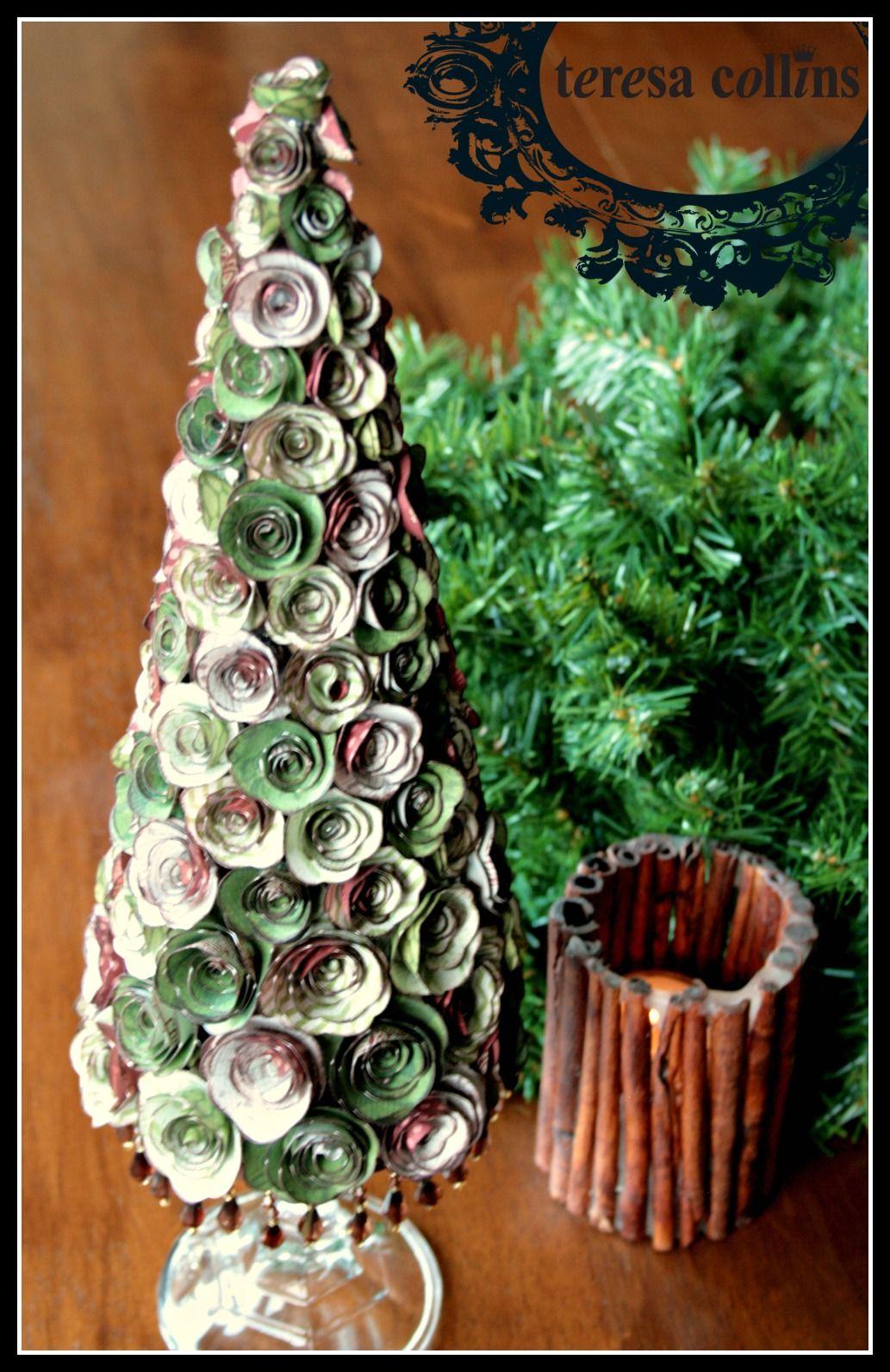 Teresa collins design team oh christmas tree tutorial by cheri