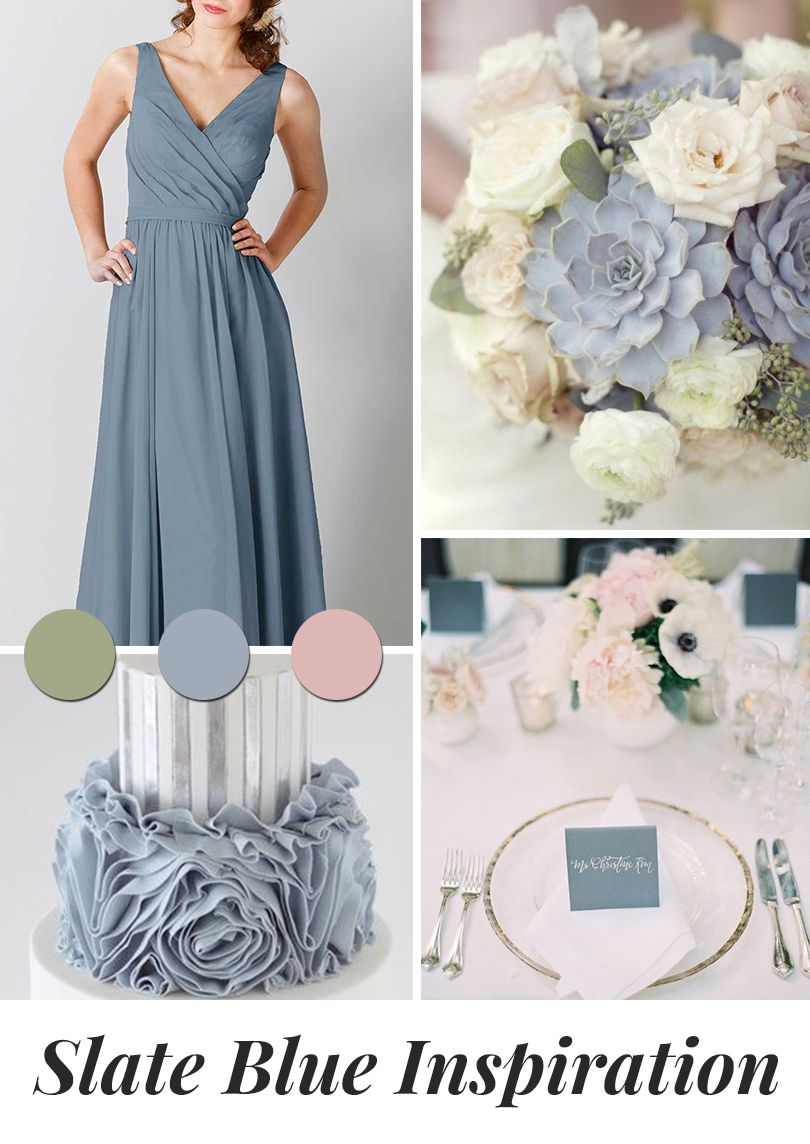 Slate Blue Is The New Color To Obsess Over For Your Wedding