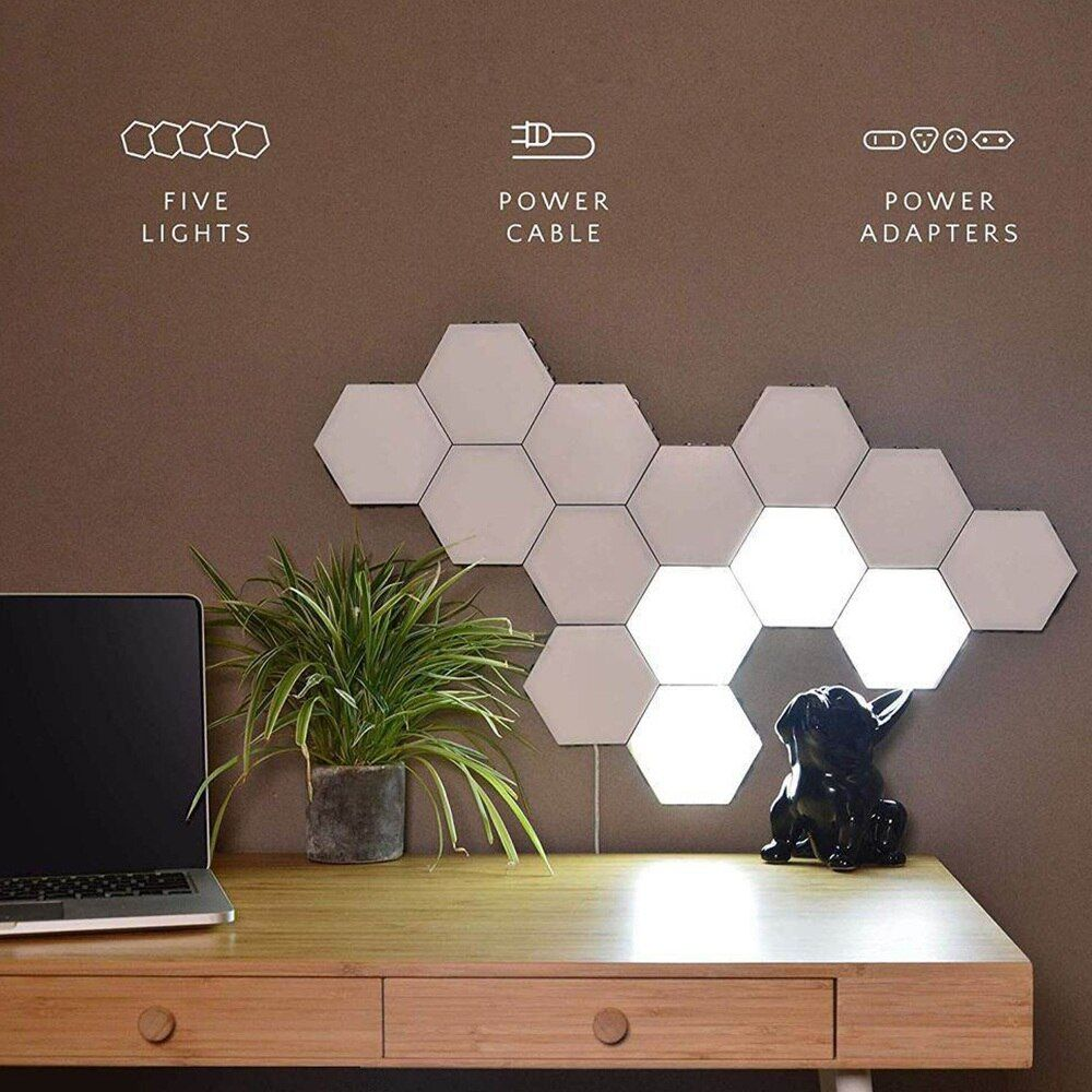 Night Lights Hexagonal Lamps Modular Touch Sensitive Lighting Led Night Light Magnetic Hexagons Wall Lamp Creative Decorati In 2020 Wall Lamp Light Panels Cool Walls