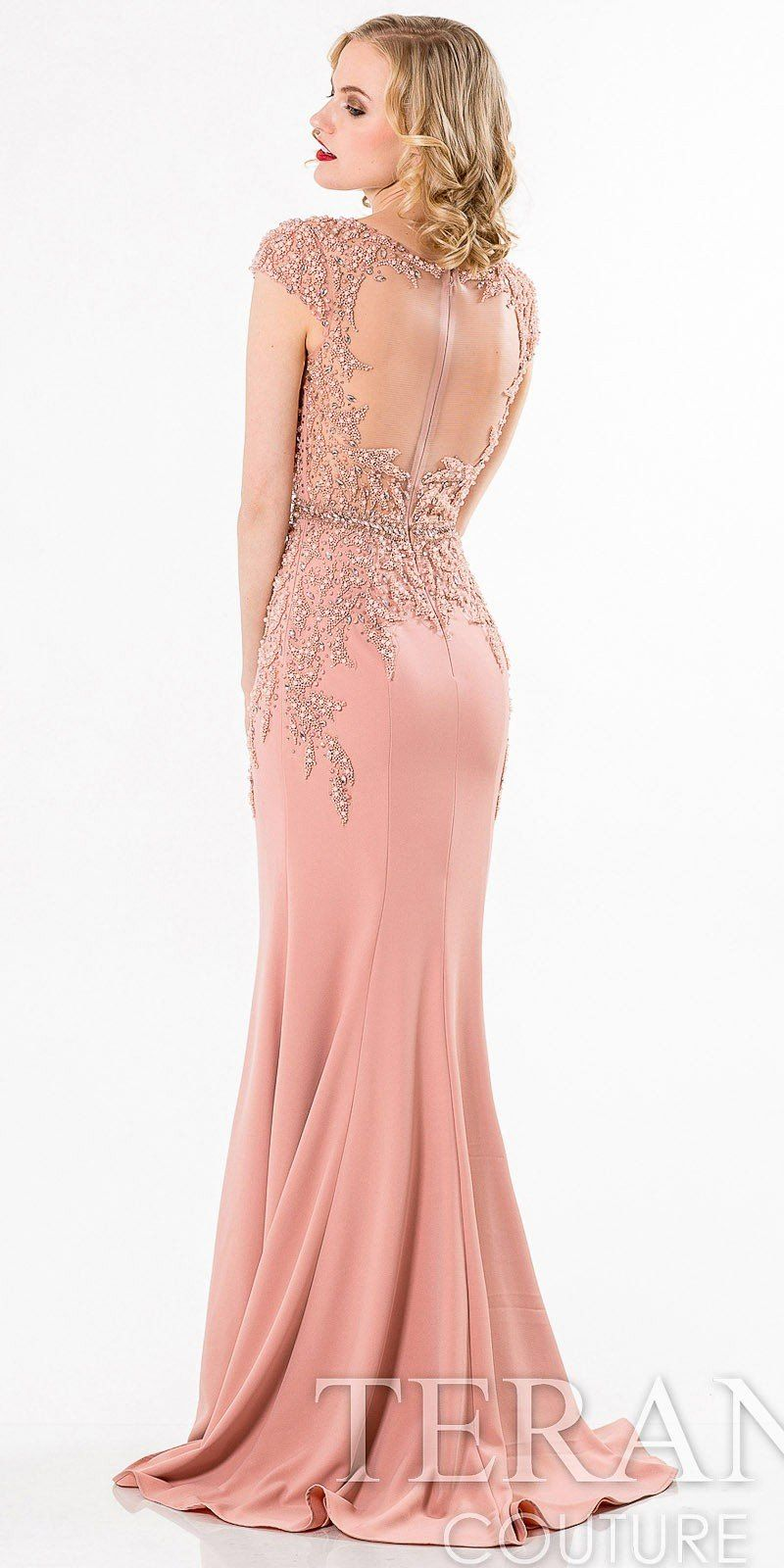 Beaded Cap Sleeve Evening Dress by Terani Couture | p Diaconato ...
