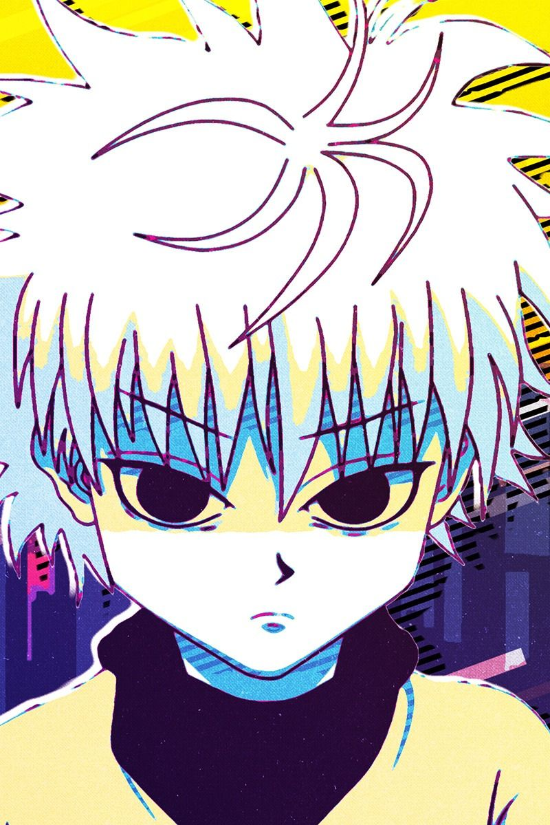 'Killua Zoldyck' Metal Poster 80sRetro Displate in