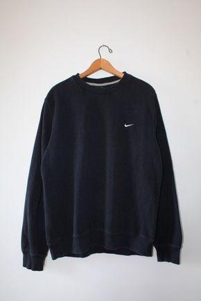 sweater nike black sweater oversized sweater tumblr sweater pullover oversized s…