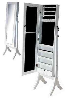 joyero espejo de cuerpo entero en madera y gran capacidad