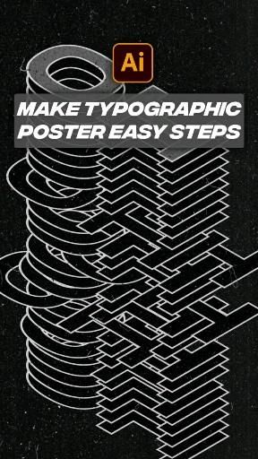 Create typographic poster in easy steps with illustrator