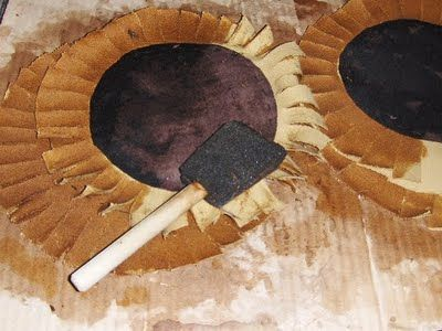 My Country Heart Primitive Sunflower Freebie Tutorial