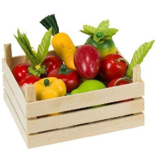 Obst und Gemüse in Kiste, 1er Set