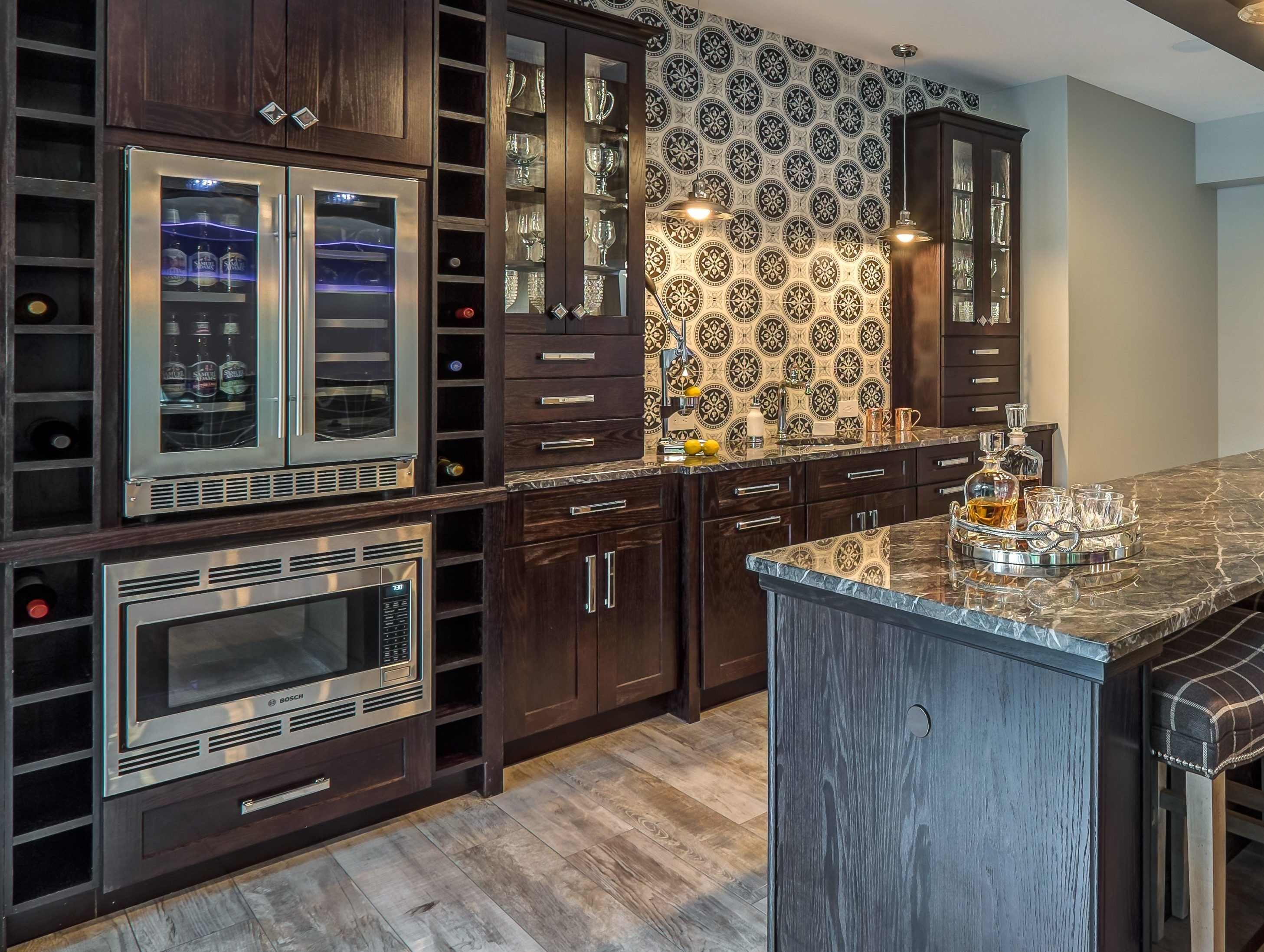 The cabinets here look so great. Maybe it would be good to ...