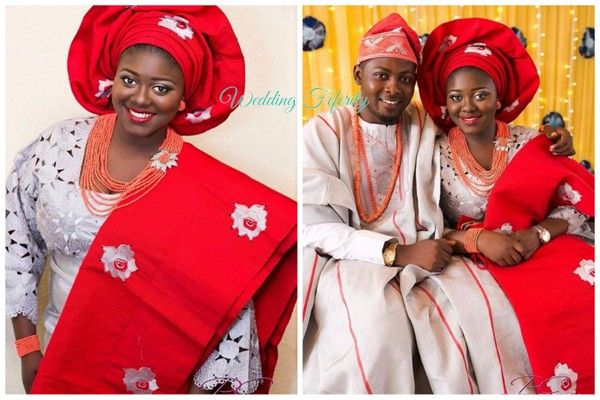 Aso oke for yoruba wedding dress
