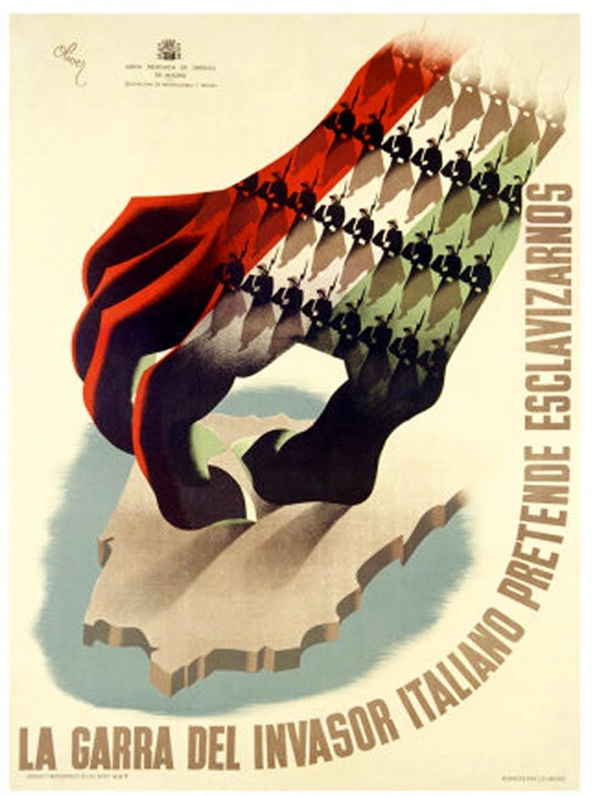 Canvas propaganda of fascist Italy Art print POSTER