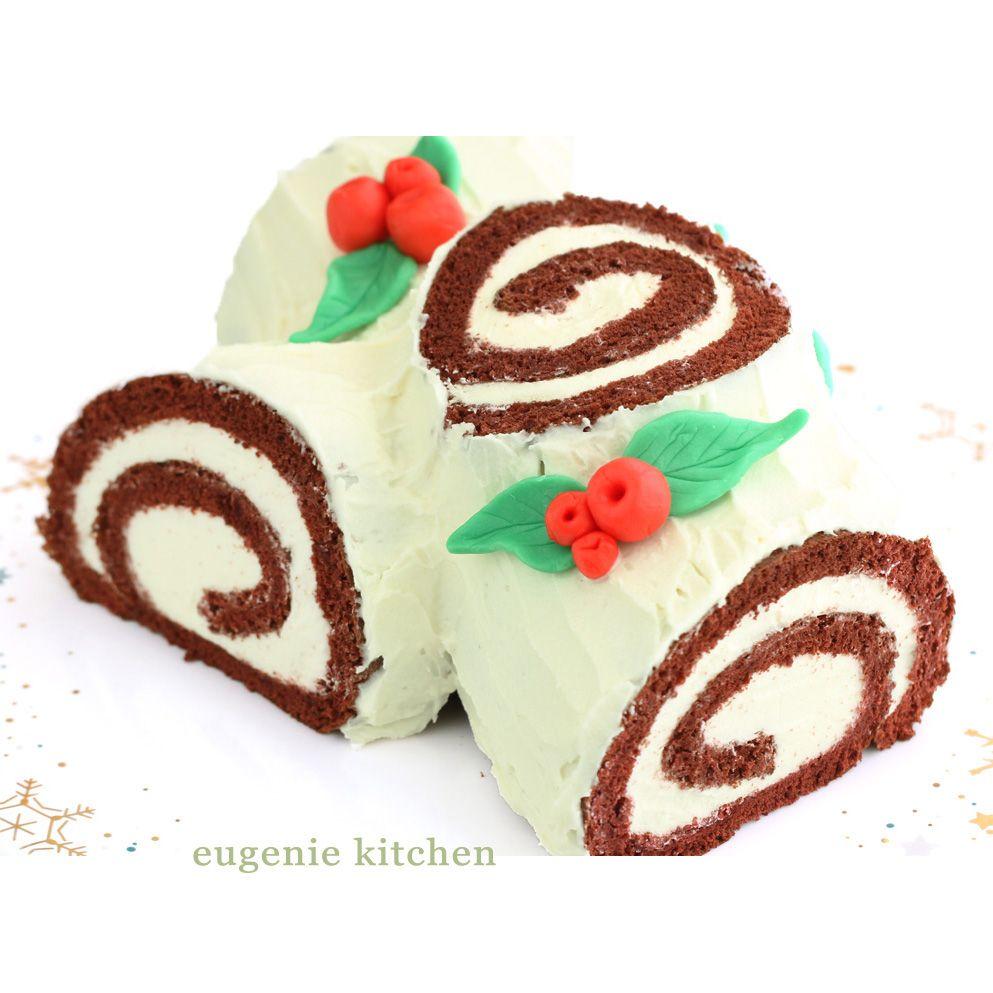 Red Velvet Yule Log Cake Christmas Buche De Noel Recipe Yule Log Cake Log Cake Christmas Cake