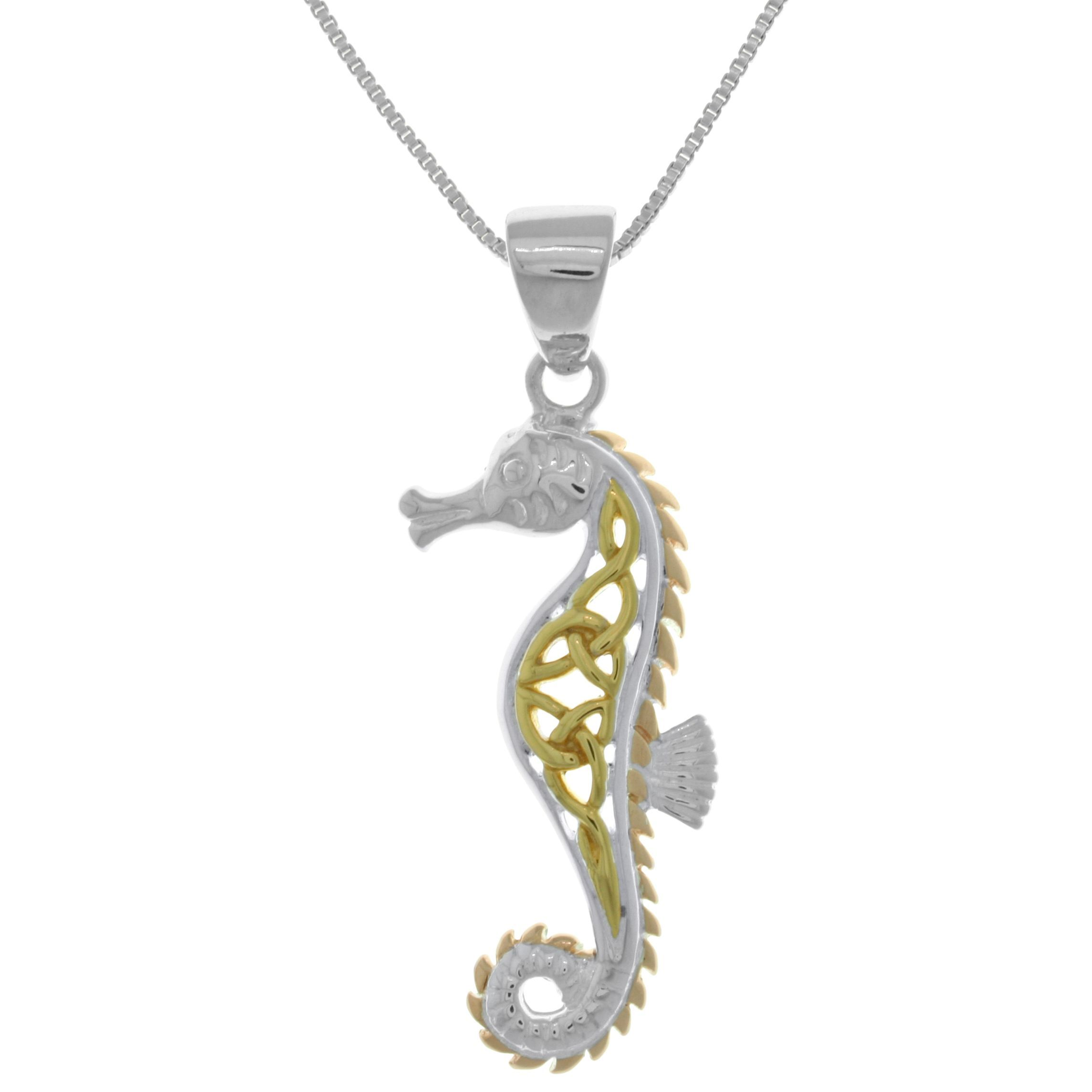 pendant roberto coin metallic seahorse diamond white jewelry in necklace lyst gallery