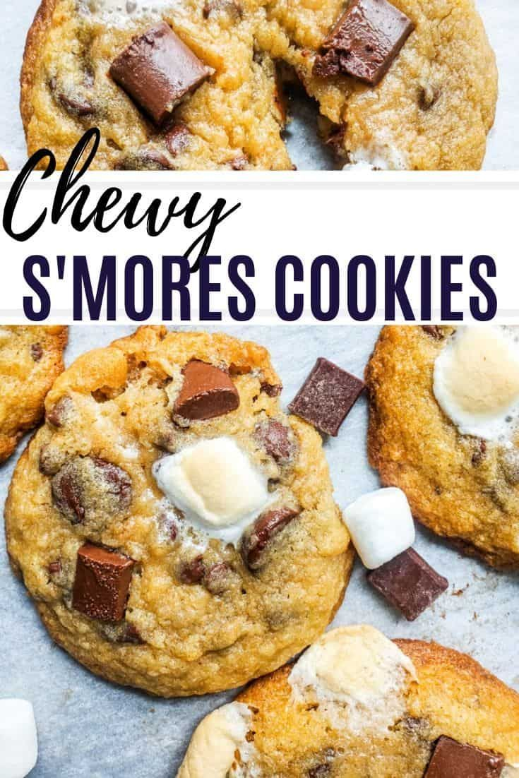 This Easy Chewy Smores Cookies Recipe is the best twist on the classic summer campfire favorite This easy cookie recipe can be made ahead of time and is the perfect desse...