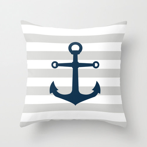 Navy gray and white Nautical Stripes POPULAR by decomodwalls, $25.00