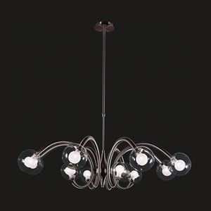 Rondo 18 Light Rondo MultiLight Chandelie in  Polished Chrome