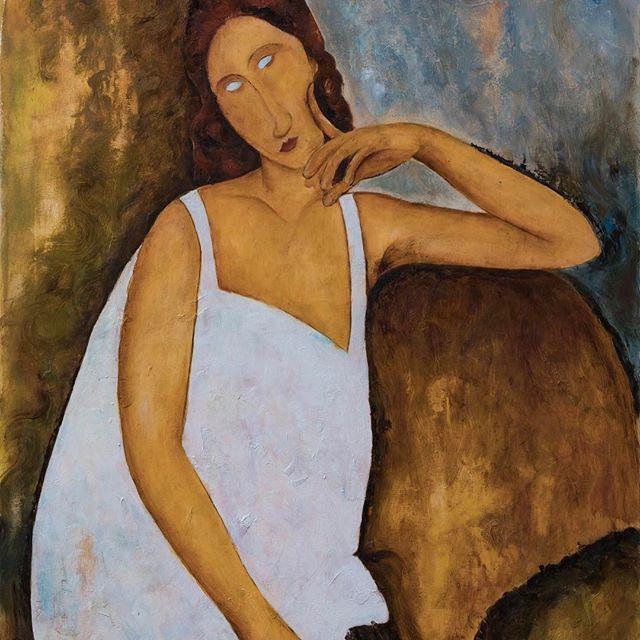 Modigliani - Jeanne Hebuterne - 90x60 .  .#amedeomodiglianitribute .#amedeomodiglianicopy .#painter .#homemade .#art .#paintings #paintondemand